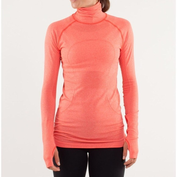 LULULEMON Swiftly tech turtleneck coral size 8